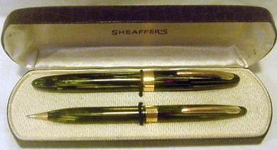Sheaffer Statesman 1000 Fountain Pen 14K Nib Pencil Set
