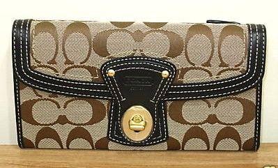 Signature Legacy Wallet Black Leather Trim 41955