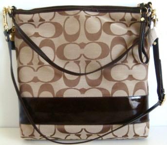 Signature Messenger Bag Khaki Style 12824
