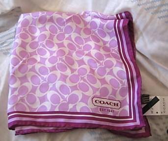 Signature silk scarf pink 12cm 98415