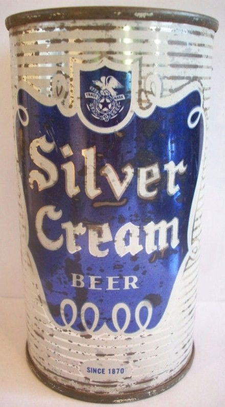 Silver Cream Beer Flat Top Can