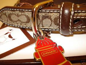 Small Coach Signature Dog Collar