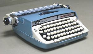 Smith Corona Classic 12 Portable Manual Typewriter Blue