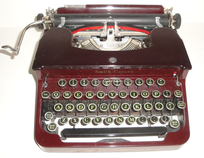 Smith Corona Red Typewriter