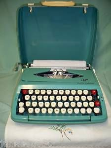 Smith Corona Carnegie Typewriter Green