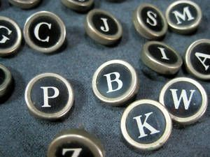 Smith Corona Glass Covered Typewriter Keys White on Black
