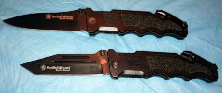 Smith & Wesson Border Guard Folding Knives/Drop Point & Tanto Shown