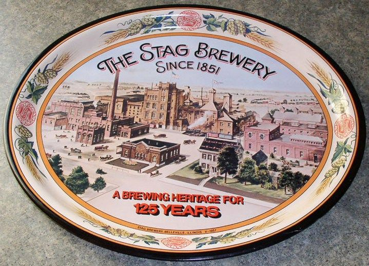 Stag Brewing 125th Anniversary Beer Tray