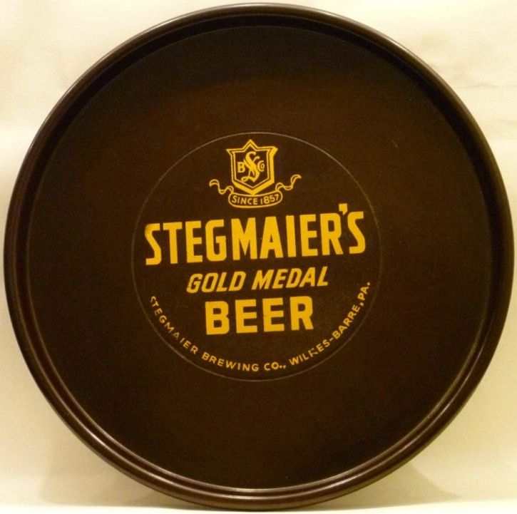 Stegmaier's Gold Medal Beer WWII Vintage Tray