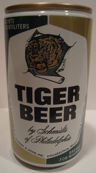 Tiger for Nigeria Forged Steel Pull Tab Beer Can