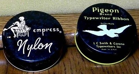 Empress and Pigeon Brand Ribbon Tins