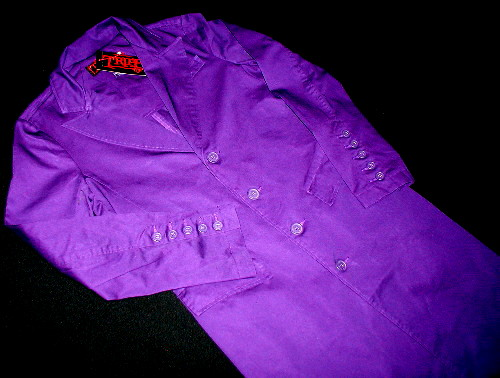 3/4 Lenght purple joker coat