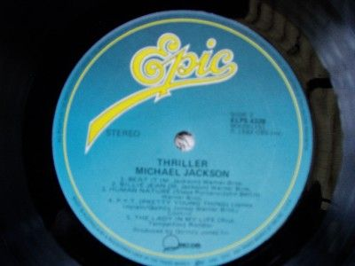 Michael Jackson Thriller lp album close up center