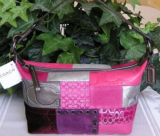 Top Handle Bright Colored Leather Patchwork Pouch Purse