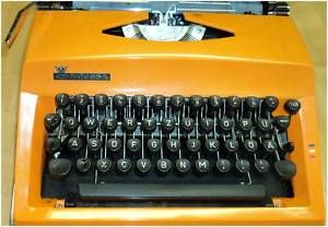 Triumph Vintage Orange Typewriter 1960s