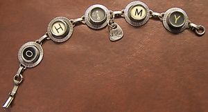 Typewriter Key Bracelet says Oh My