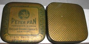 Peter Pan Typewriter Ribbon Tin