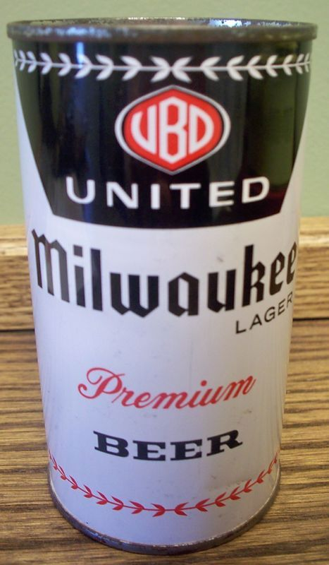 United Milwaukee Flat Top Beer Can