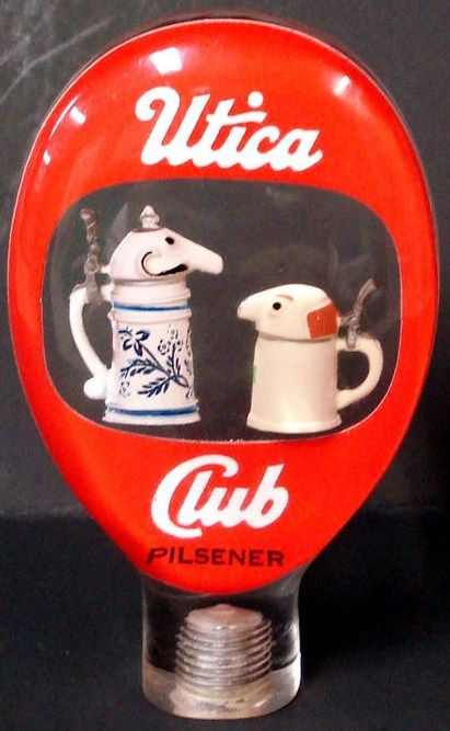 Utica Club Beer Schultz Dooley Tap Knob