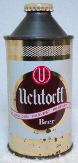 Uchtorff 4 alcohol statement cone top beer can