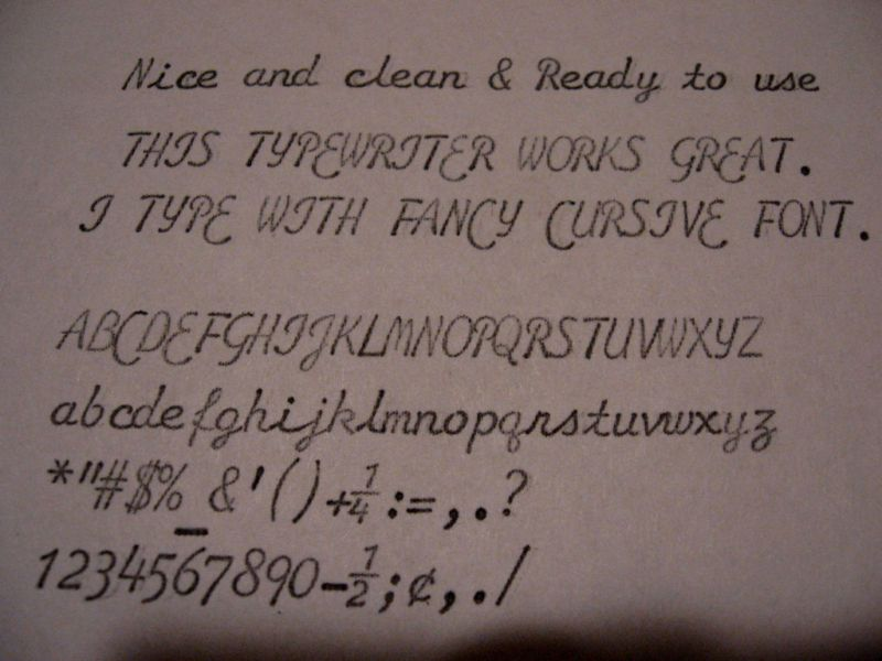 Underwood Cursive Script Font Sample