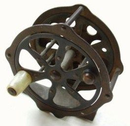 Vintage 1920s J.C. Higgins Model 319 Trough Fishing Reel