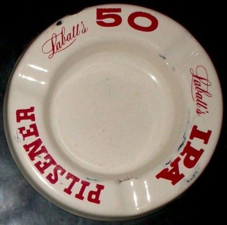 Vintage 1930 Labatt's 50 IPA Porcelain Beer Ashtray