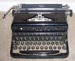 Vintage 1940's Royal Touch Control typewriter Front View