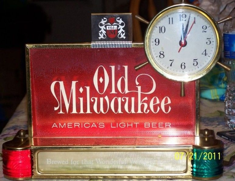 1962 Old Milwaukee Beer Sign Clock