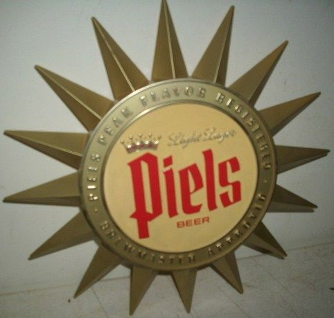 Vintage 1964 Piels Starburst Beer Sign