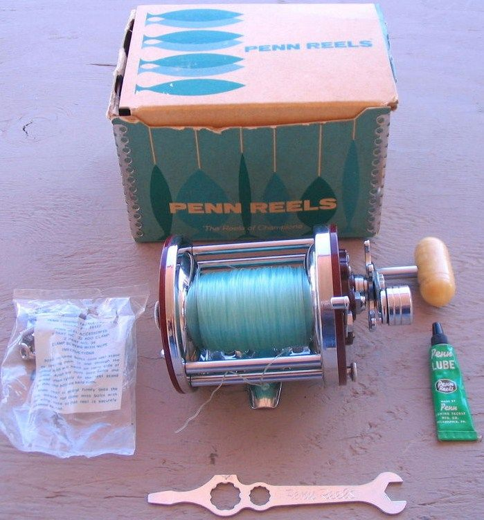 Vintage 1976 Penn Fishing Reel Jig Master Chrome Plate #500M