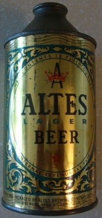 Vintage Altes Cone Top Beer Can