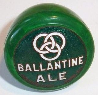 Vintage Ballantine Ale Beer Green Enamel Tap Handle