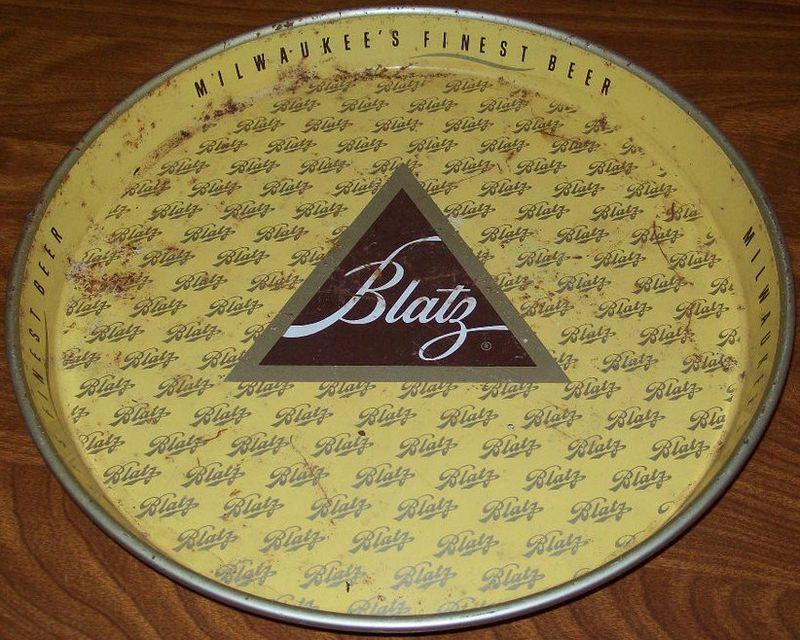 Vintage Blatz Beer Tray