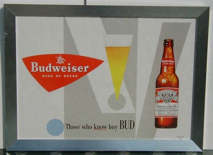 Vintage Budweiser Beer Advertising Sign Those W?ho Know Buy Bud