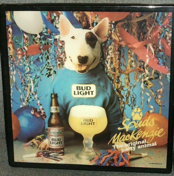 Lighted Spuds MacKenzie Bar Sign