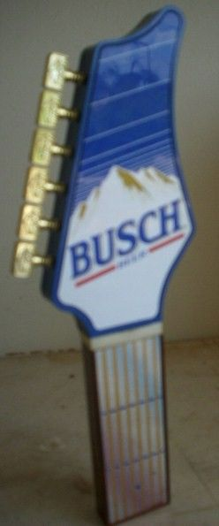 Vintage Busch Guitar Beer Tap Handle