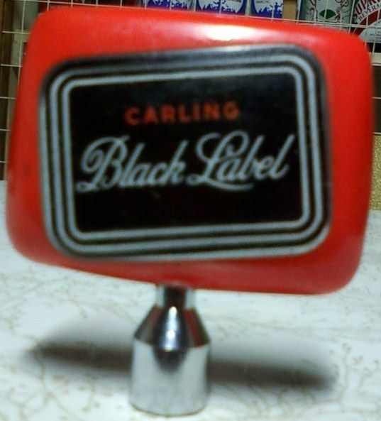 Vintage Carling Black Label Beer Tap Bottle Cleveland Ohio