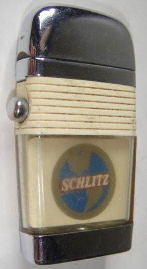 Vintage Cigarette Lighter Schlitz Beer Scripto VU Lighter