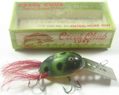 Vintage Creek Chub Dingbat Fishing Lure w/Box