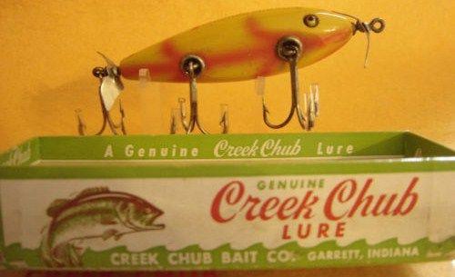 Collectible Creek Chub Injured Minnow Topwater Lure w/Box