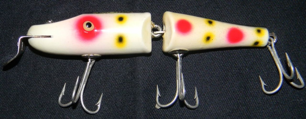 Vintage Creek Chub Jointed Strawberry Fishing Lure