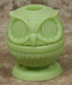 Vintage Fenton Glass Owl Fairy Lamp