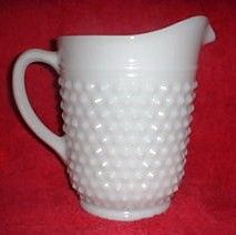 Vintage Fenton Milk Glass White Pitcher