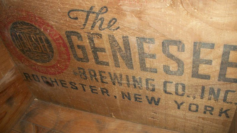 Vintage Genesee Beer Rochester NY Wooden Crate Box