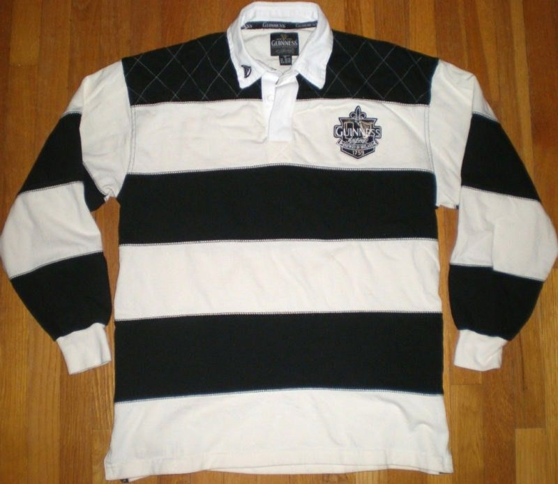Vintage Guinness Beer Polo Rugby Shirt Irish