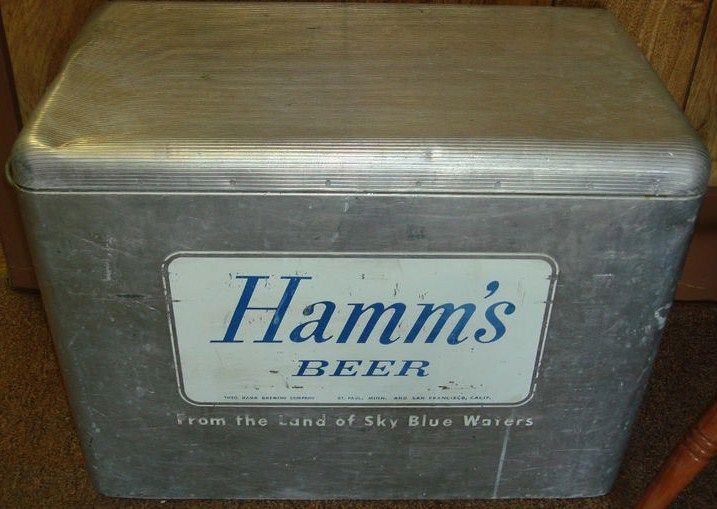 Vintage Hamm's Beer Cooler