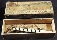 Vintage Deddon Black-White Torpedo Fishing Lure w/Box