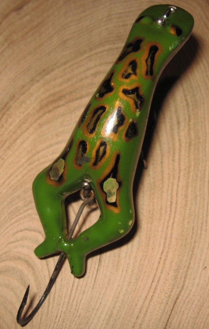 Vintage Heddon Luny Frog Fishing Lure