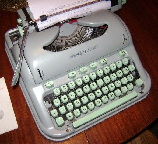 Vintage Hermes 3000 Manual Typewriter